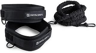 CAPITAL SPORTS Averto Juego para entrenamiento de resistencia (6 bandas elásticas, 14 piezas, giro 360°, 3 intensidades potencia aceleración) - negro
