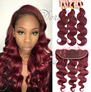 burgundy frontal with bundles