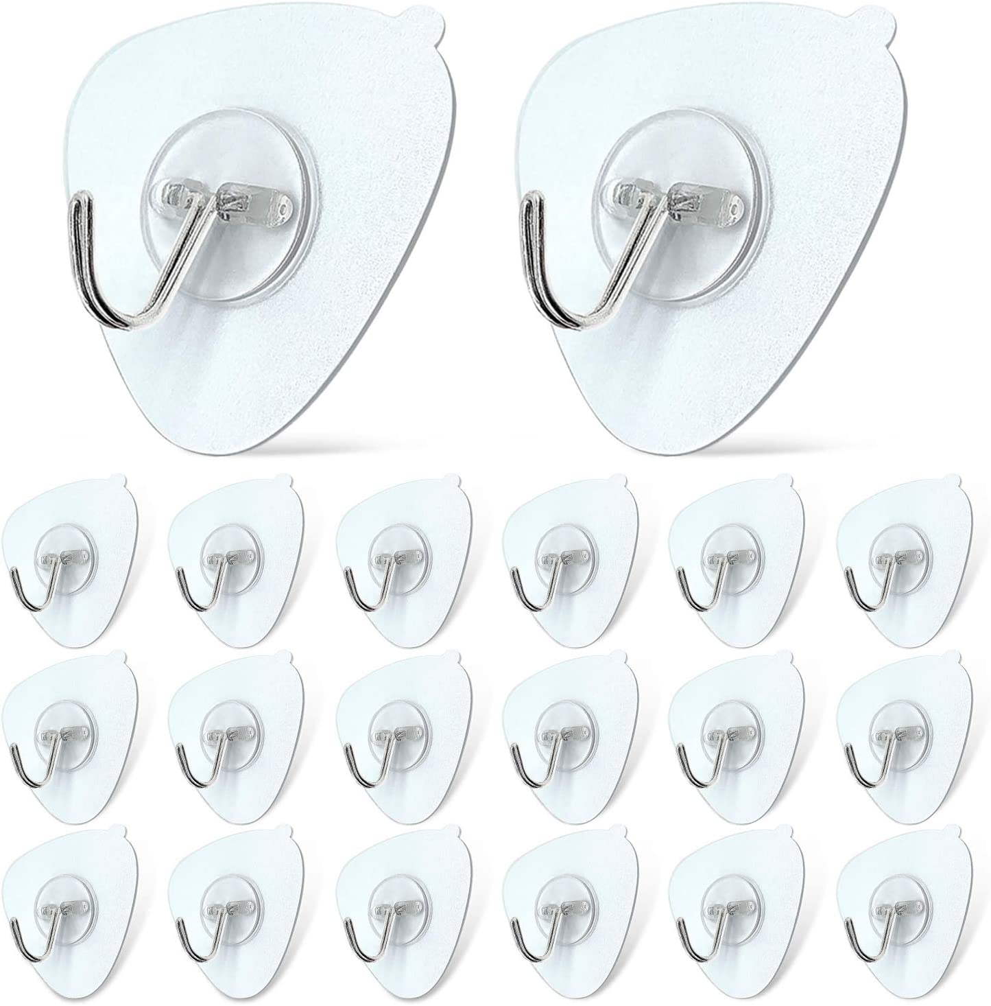 DSMY 20 Pack Self Adhesive He Over item handling ☆ Stick Wall Max 49% OFF Hooks