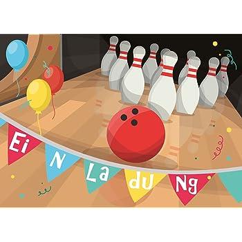 Geburtstag kostenlos ausdrucken bowling einladungen Bowling Malvorlagen
