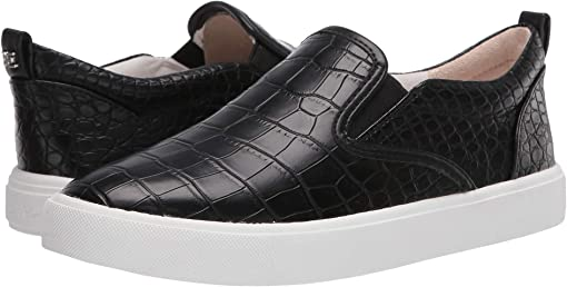 Black Cayman Croco Embossed Print