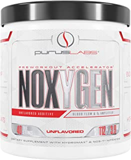 Purus Labs Noxygen Preworkout Accelerator, Unflavored, 40 Servings, 3.9 Oz