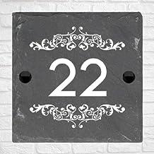 Be-Creative Rustieke natuurlijke leisteen huis poort teken gepersonaliseerd naambord - (15cm x 10cm)