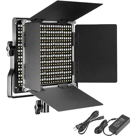 Neewer 調光可能な二色660 LEDビデオライト 耐久性のあるメタルフレーム、 Uブラケットと遮光板付き 3200-5600K、CRI96+ スタジオ撮影、YouTube、商品撮影、ビデオ撮影に適用