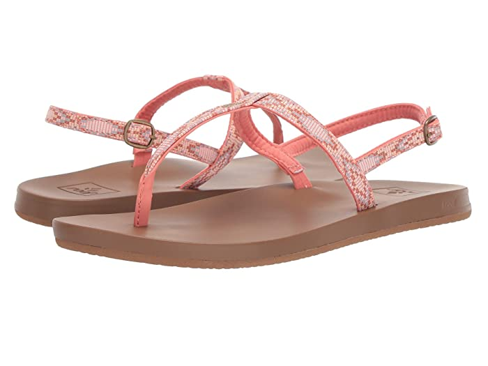 Reef  Cushion Bounce Slim T (Coral Beads) Womens Sandals