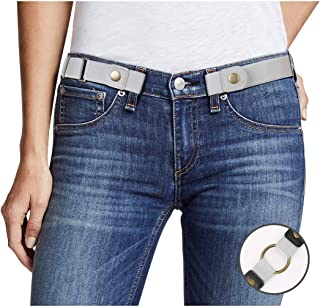 e94b9838b823b Buckle Free Women Stretch Belt Plus Size No Buckle/Show Invisible Belt for  Jeans Pants