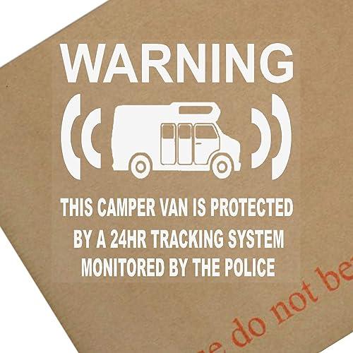 6x Camper Van Mannequin/faux suivi GPS Système Appareil Unité–Alarme de sécurité Avertissement fenêtre autocollants–Police surveiller Panneau en vinyle