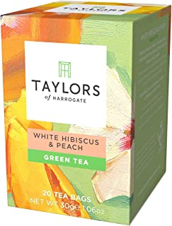 Taylors of Harrogate White Hibiscus & Peach Green Tea, 20 Teabags
