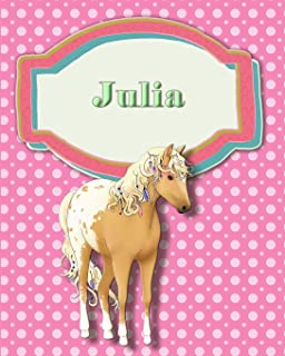 Handwriting and Illustration Story Paper 120 Pages Julia: Primary Grades Handwriting Book
