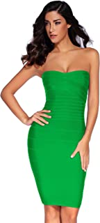 Meilun Women's Strapless Bandage Dress Cocktail Bodycon Dress