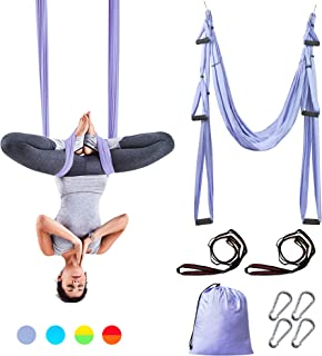 Sotech Aerial Yoga Swing Set, Yoga Sling Inversion Tool for Professional and Beginners, 2 Adjustable Daisy Straps