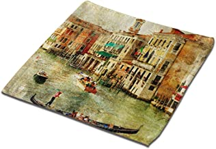 NICOKEE Bath Hand Beach Towel Old Photo of Venice Square Towel for Home/Hotel/Kitchen/Spa/Salon/Gym and Face 12.9 X 12.9 Inch