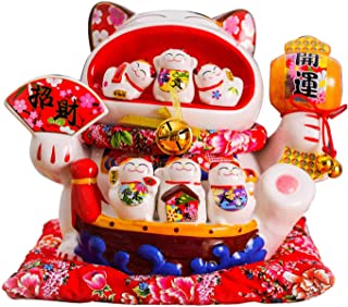 14 Inch Large Piggy Bank, Ceramic Lucky Cat Piggy Bank, Home Furnishings Lucky Furnishings Store Opening Gifts