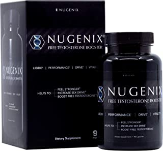 Nugenix Natural Testosterone Booster Capsules, 90 Count