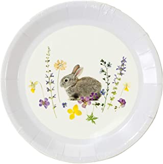 Talking Tables Easter Bunny Very Small Paper Plates, Pack of 12, Mixed Colours