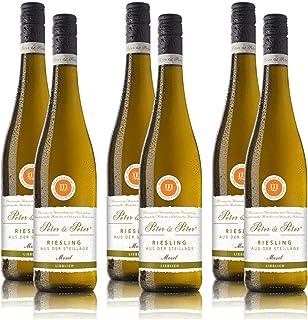 Weisswein Peter & Peter Riesling Steillage Mosel QbA, lieblich, sortenreines Weinpaket 6 x 0,75 l