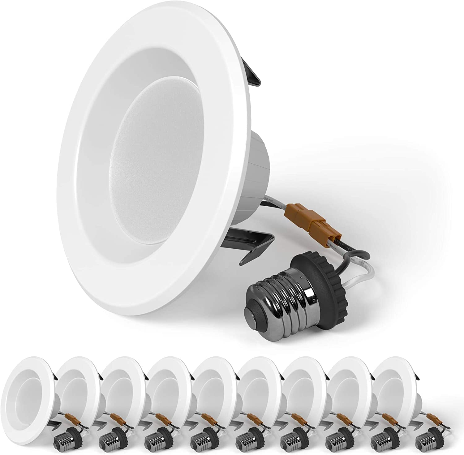 SunLake 10 Pack LED Recessed Super popular specialty store Lighting T Japan Maker New Downlight Smooth 4 Inch