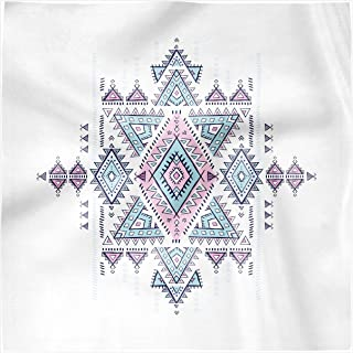 Ambesonne Aztec Decorative Napkins Set of 4, Geometric Pattern Folk Style Tattoo Inspired Design, Silky Satin Fabric for Brunch Dinner Buffet Party, 12