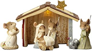 2018 Enesco Heart of Christmas Mice Nativity 5 Piece Set