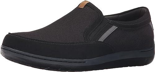 Dunham Men's FitSync Slip on chaussures,noir,11.5 4E US