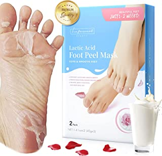 Foot Peel Mask - 2 Pack, Exfoliating Peeling Away Calluses and Dead Skin, Make Your Feet Baby Soft, Repair Rough Heels for...