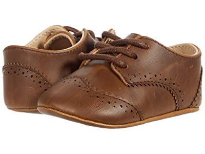 Janie and Jack Wingtip Crib Shoe (Infant) (Brown) Boy