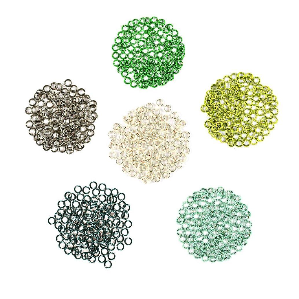 Forest Flora - Enameled Copper Jump Rings – 18 Gauge – 3.5mm ID - 600 Rings - Green, Hematite, Peridot, Seafoam, Silver, Teal