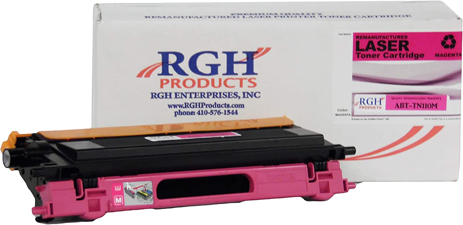 RGH Products Remanufactured Toner Cartridge ABTTN110M Tray Toner Cartridge Replacement for Brother TN110M Printer Magenta