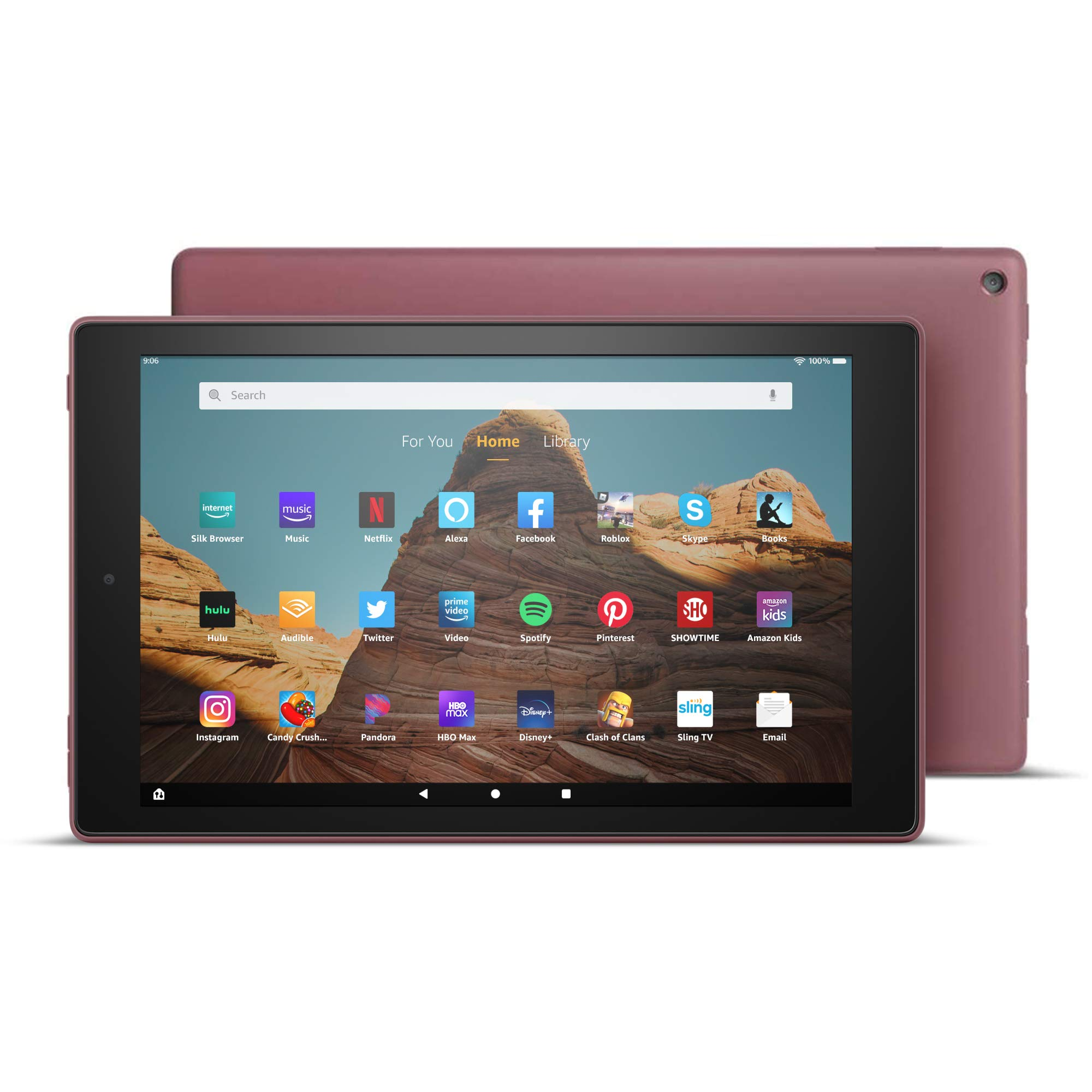 "Fire HD 10 Tablet (10.1"" 1080p full HD display, 32 GB) – Plum (2019 Release)"