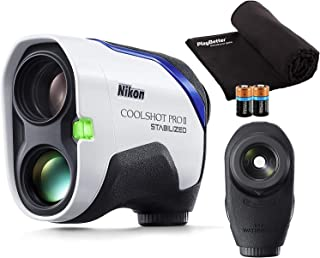 $449 » Nikon COOLSHOT PROII Stabilized (2021) Golf Laser Rangefinder with Slope | Bundle Includes Carrying Case, PlayBetter Micro...