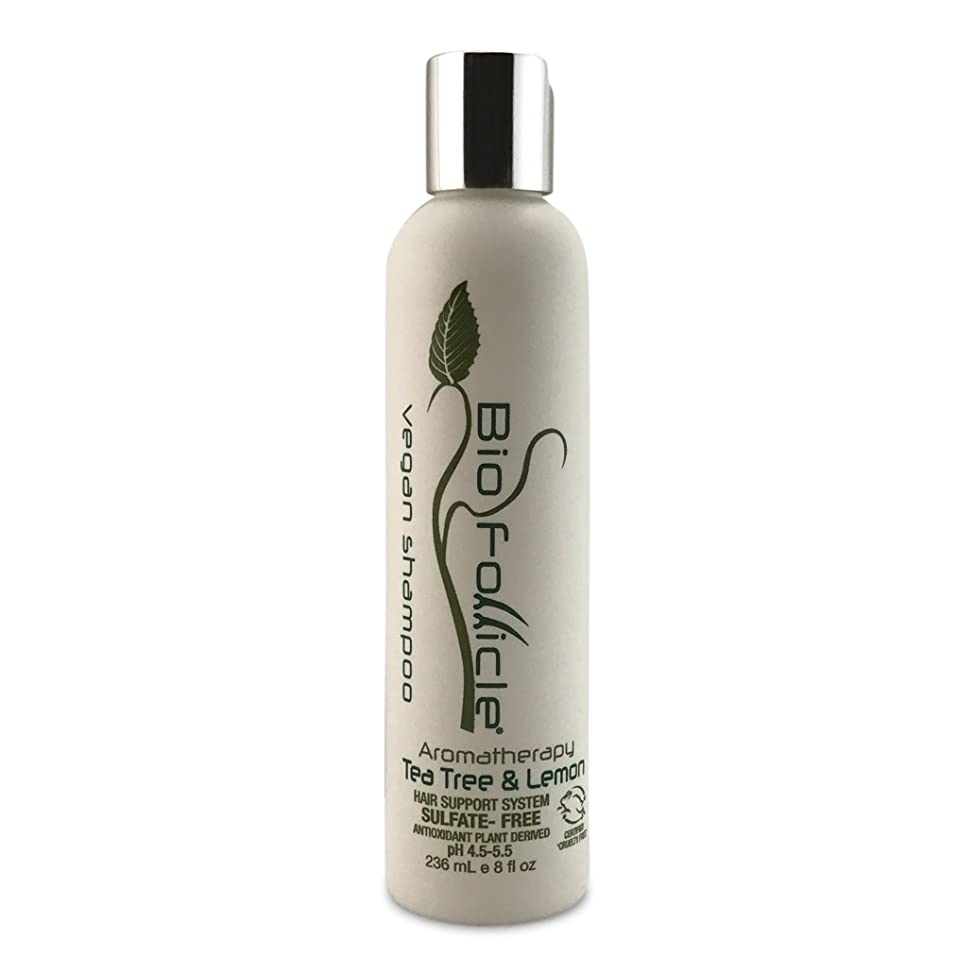 Bio Follicle Hair Growth Shampoo [8 Ounces] | Organic Tea Tree and Lemon Shampoo | Strengthen & Nourish Your Hair, Prevent Hair Thinning & Breakage | Sulfate & Cruelty Free, Vegan & Plant-Derived