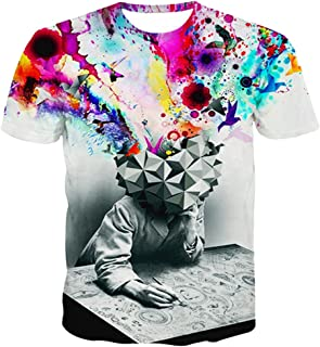 T-Shirt for Men 3D Formula Print Personality Casual Slim Crewneck Short Sleeve Shirt Tops Blouse Pullover