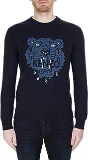 Kenzo Mens Rubberised Tiger Logo Sweatshirt S Midnight Blue