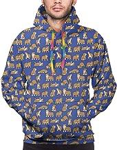 Pullover Hoodie Hooded Sweatshirt for Boys Mens, Winter Tops