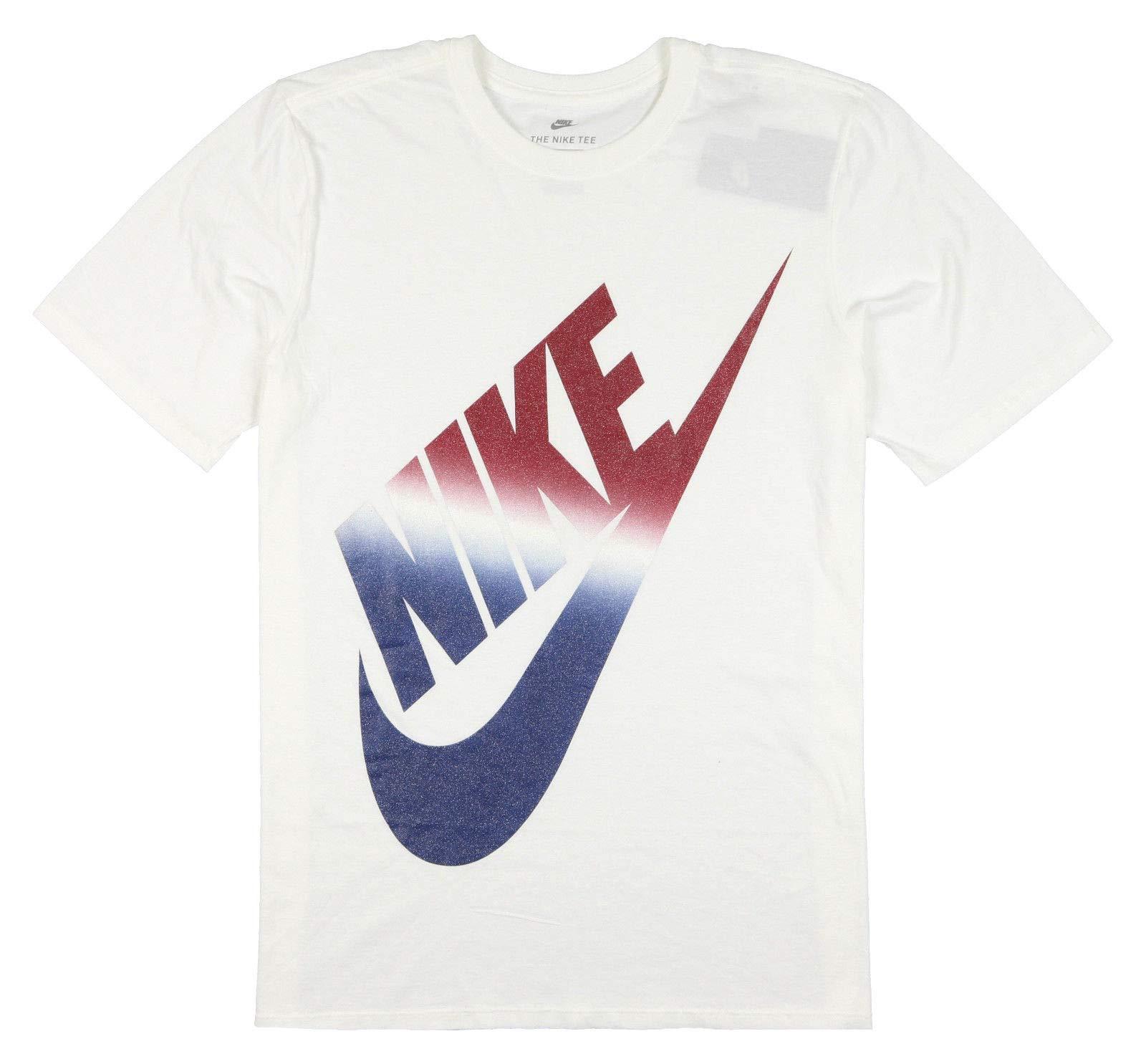 Nike USA Futura Icon - Camiseta de Manga Corta para Hombre, Talla Mediana, Color Blanco, Azul y Rojo: Amazon.es: Deportes y aire libre