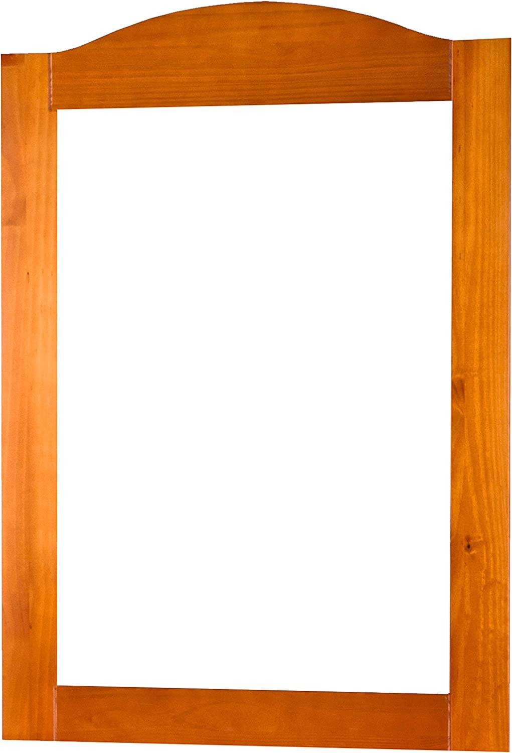 100% Solid Wood Frame Mirror, Honey Pine, 32w x 44.5h. 2 Mirror Supports, Hardware Included.