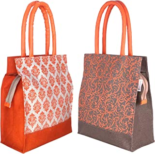 Foonty Daily use Women Tote/Lunch/Gym Bag(Combo of 2,Multicolor,Fab-28)