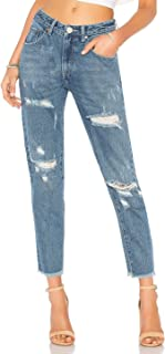 One Teaspoon Fresh Blue High Waist Awesome Baggies Distressed Jeans Denim