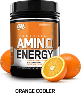 OPTIMUM NUTRITION ESSENTIAL AMINO ENERGY, Orange Cooler, Keto Friendly Preworkout and Essential Amino Acids with Green Tea and Green Coffee Extract, 20.64 Ounce (Pack of 1)