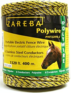 Zareba PW1320Y6-Z 400m Polywire with 6 Conductors-1320ft