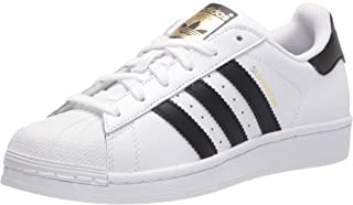 adidas Originals unisex child Superstar Sneaker, White/Core Black/Core White, 7 Big Kid US