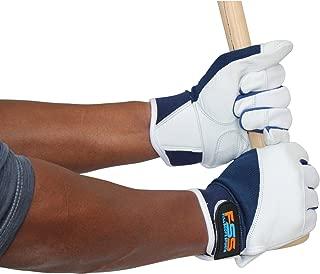 Fullscope sports Baseball Batting Gloves for Adult Boys Girls Youth Pro Softball Glove (Blue/White, Adult Large)
