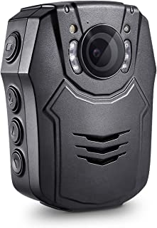 BOBLOV 1296P 32G Body Worn Mounted Camera Lightweight Night Vision Cam 150 Degree Angle Playback 7Hours Recording (Built-in 32G)