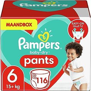 Pampers Maat 6 Baby-Dry Luierbroekjes, 116 Stuks, MAANDBOX, Eenvoudig en Leuk Verschonen Overdag en Bescherming 's Nachts...