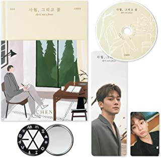 EXO CHEN 1st Mini Album - April, and a Flower [ FLOWER ver. ] CD + Booklet + Bookmark + Photocard + OFFICIAL POSTER + FREE GIFT