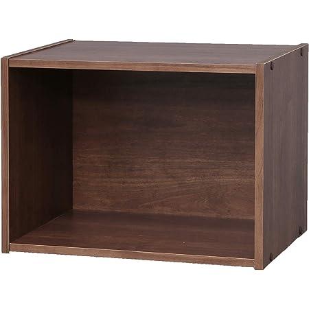 Marque Amazon - Movian Meuble de rangement cube 1 niche/Etagère 1 casier, MDF, Chêne Brun, 41,4 x 29 x 30,5 cm
