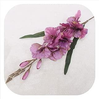 Memoirs- Simulation Autumn Gladiolus Orchid Artificial Flower Plant Wedding Festival Celebration Home Potted Fake Flower Decoration,Deep Purple
