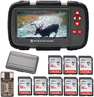 Stealth Cam SD Card Reader and Viewer with Touch Screen 4.3