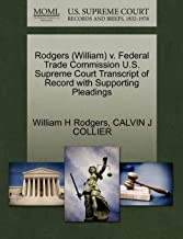 Rodgers (William) v. Federal Trade Commission U.S. Supreme Court Transcript of Record with Supporting Pleadings