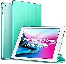 ESR iPad 9.7 2018/2017 ケース 軽量 薄型 レザー 三つ折スタンド オートスリープ機能 スマートカバー 全5色 2017年と2018年発売の9.7インチ iPad 対応(モデル番号A1822、A1823、A1893、A1954)(ミントグリーン)
